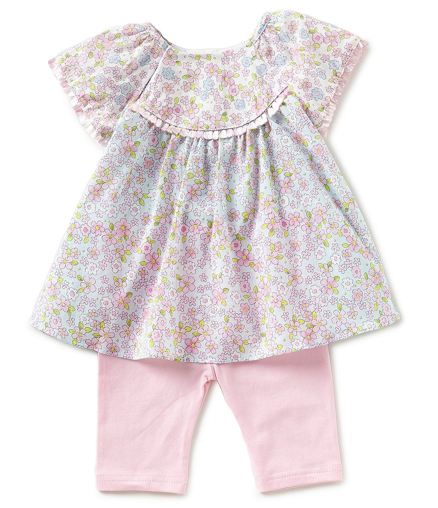 Pastourelle by Pippa & Julie Baby Girls Newborn-24 Months Floral-Print Top & Leggings Set
