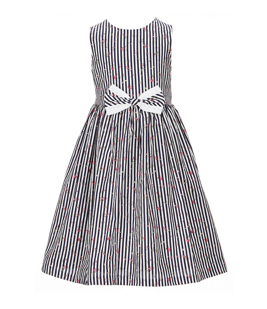 Pastourelle by Pippa & Julie Little Girls 2T-6X Striped Bow Dress