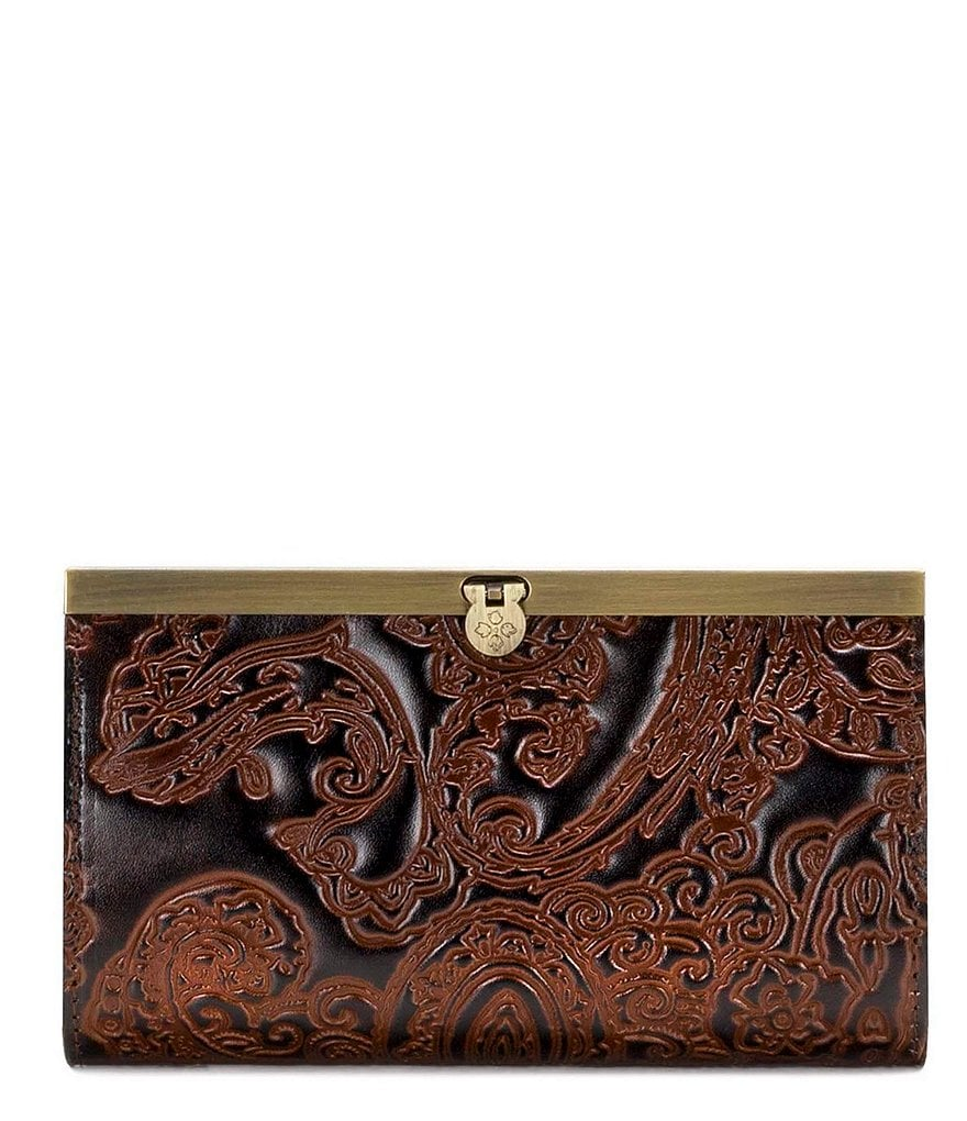 Patricia Nash Burnished Tooled Collection Cauchy Wallet