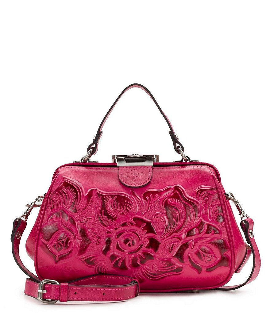 Patricia Nash Burnished Tooled Collection Gracchi Frame Satchel