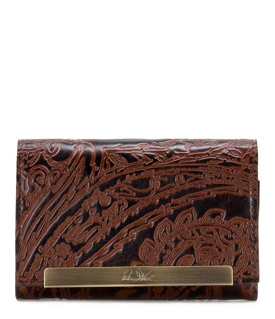 Patricia Nash Burnished Tooled Lace Collection Cametti Wallet