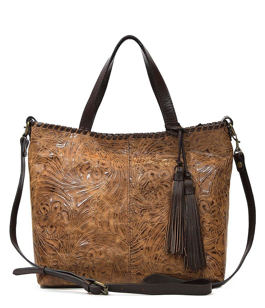 Patricia Nash Glazed Floral Collection Zola Top-Zip Tote