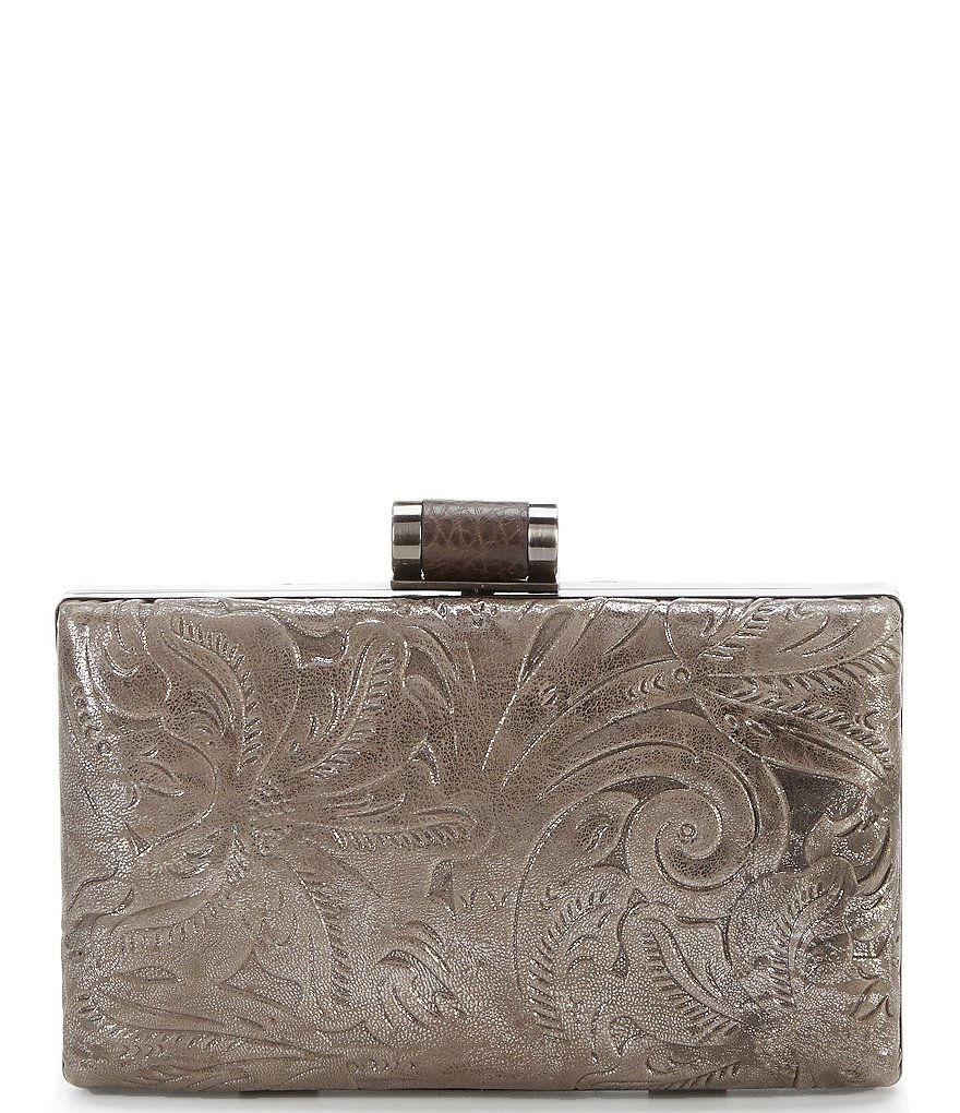 Patricia Nash Glitter Metallic Collection Alora Frame Clutch