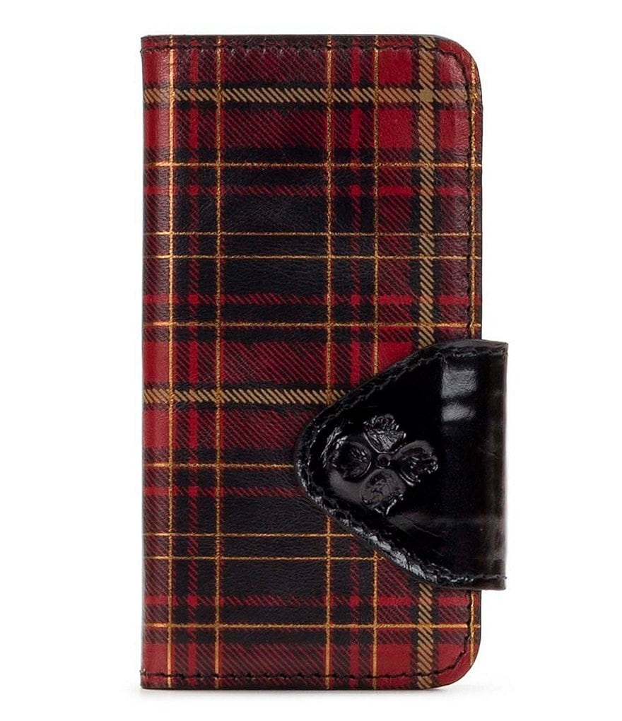 Patricia Nash Gold Foil Tartan Collection Alessandria Phone Wallet
