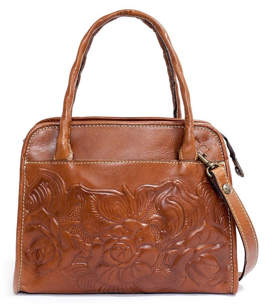 Patricia Nash Paris Floral-Embossed Satchel