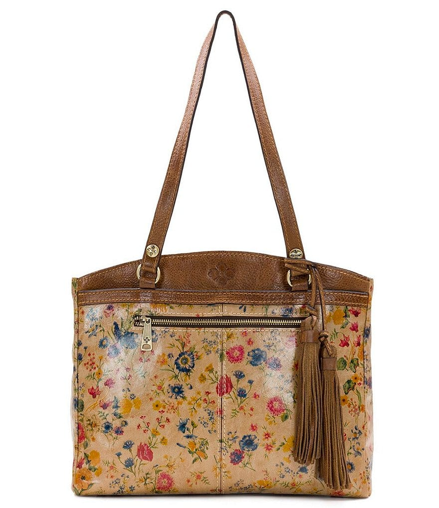 Patricia Nash Prairie Rose Collection Poppy Colorblock Tote
