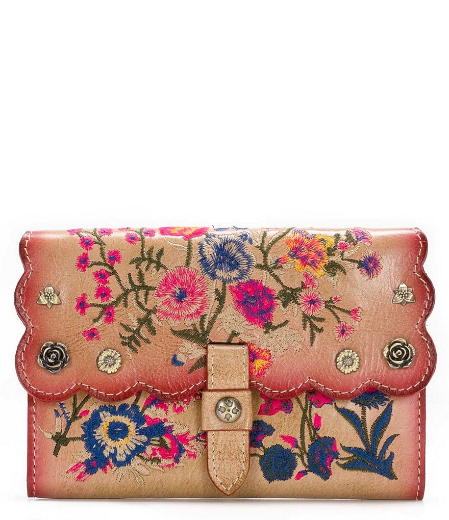 Patricia Nash Prairie Rose Embroidery Collection Colli Wallet