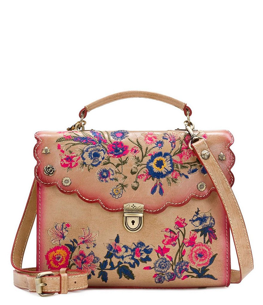 Patricia Nash Prairie Rose Embroidery Collection Simona Satchel