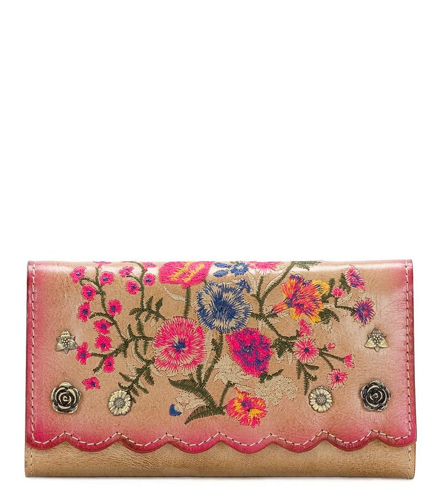 Patricia Nash Prairie Rose Embroidery Collection Terresa Wallet