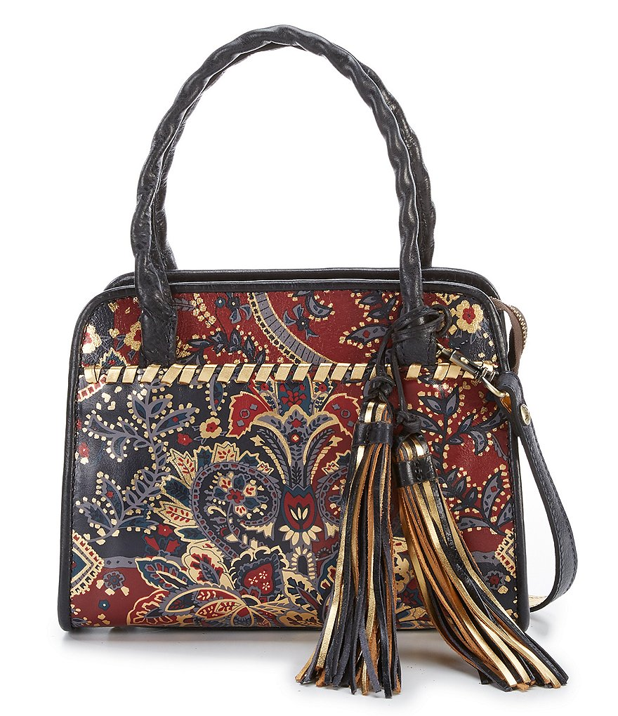 Patricia Nash Provencal Escape Collection Paris Tasseled Satchel