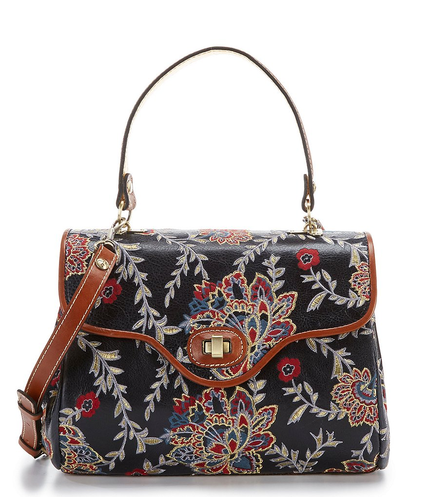Patricia Nash Provencal Escape Embroidery Collection Verga Satchel