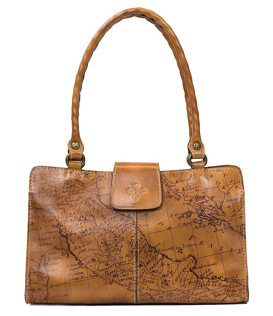 Patricia Nash Signature Map Collection Rienzo Satchel