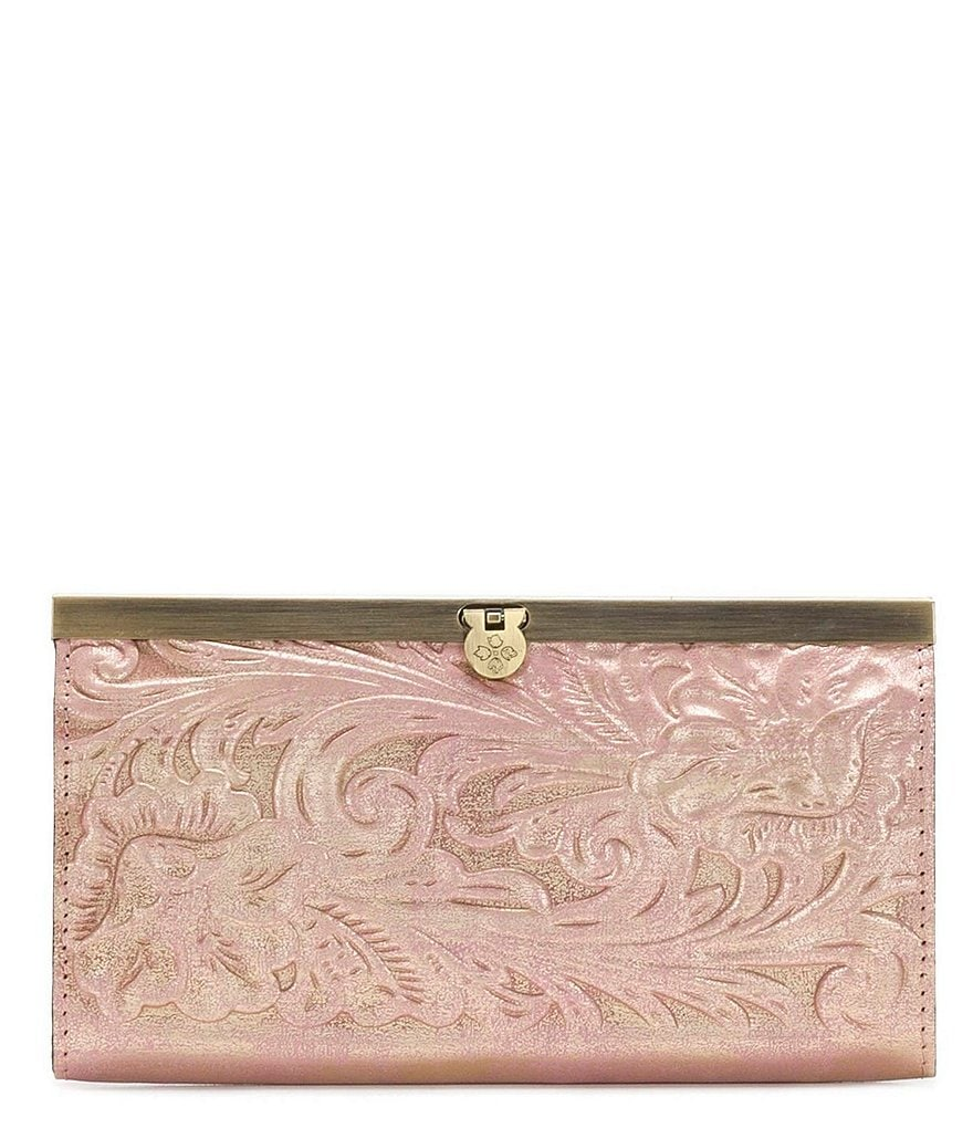 Patricia Nash Soft Metallic Tooled Collection Cauchy Wallet