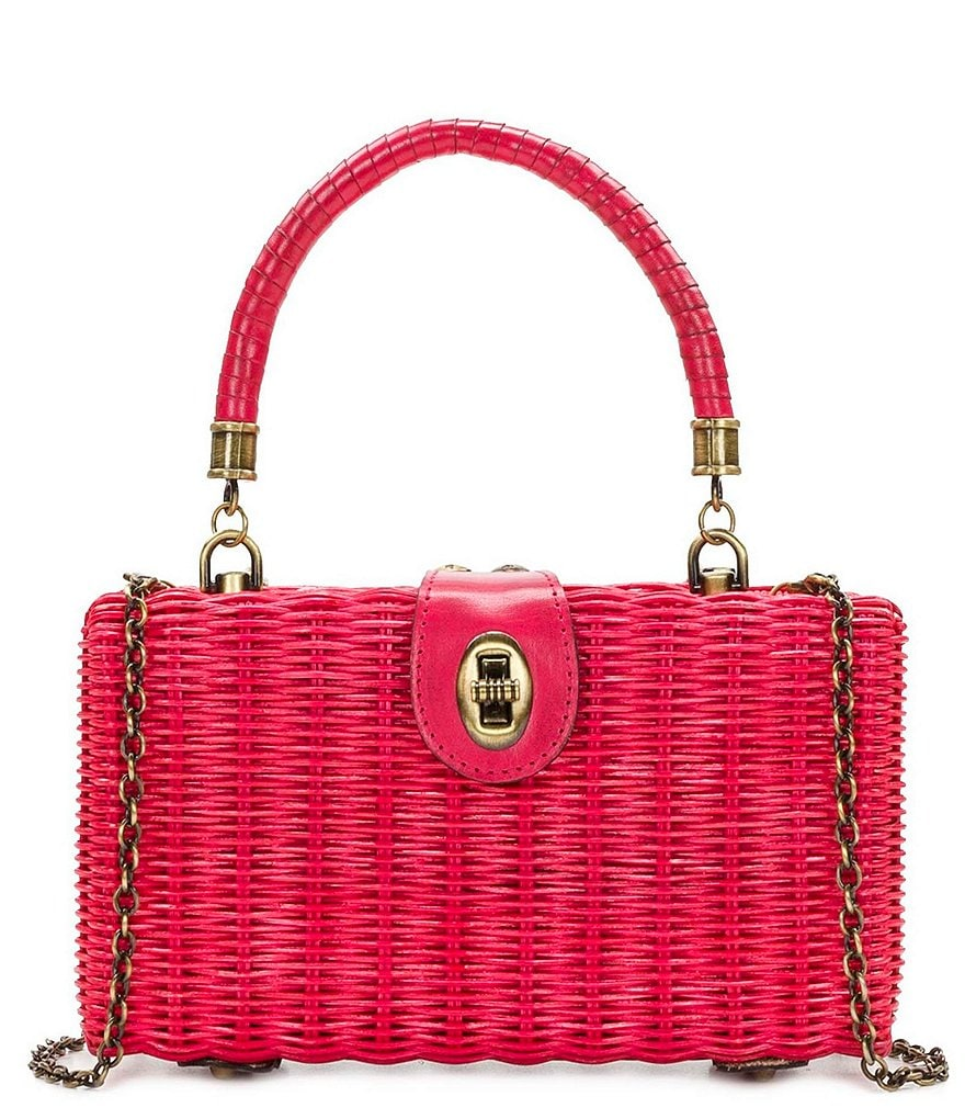 Patricia Nash Spring Wicker Collection Ayora Frame Bag