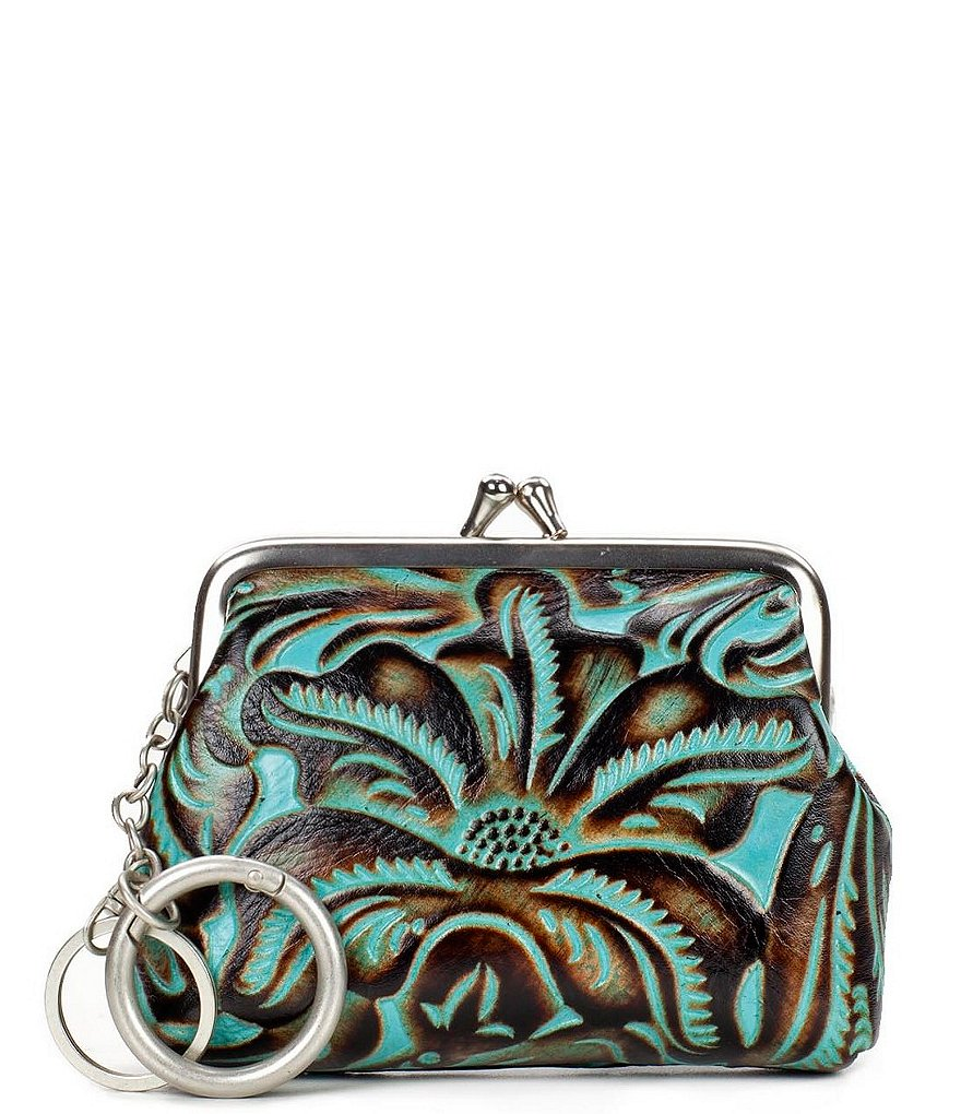 Patricia Nash Tooled Turquoise Collection Borse Coin Case