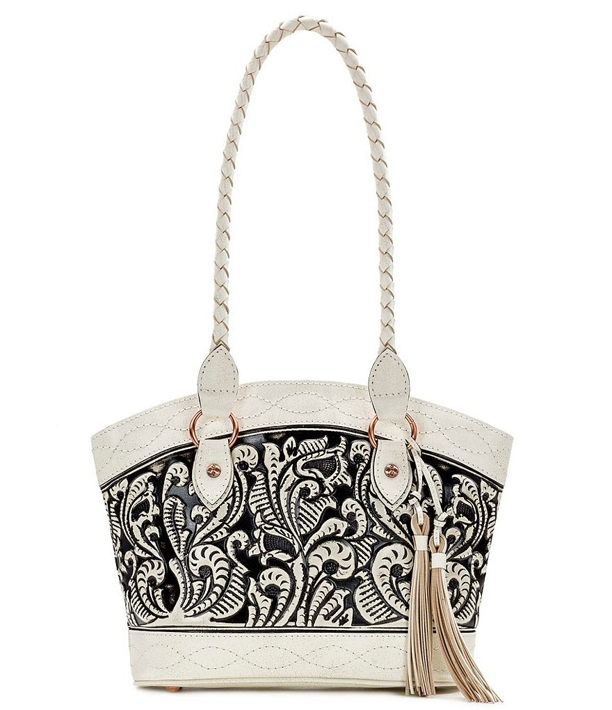 Patricia Nash Vintage White Washed Collection Zorita Tote