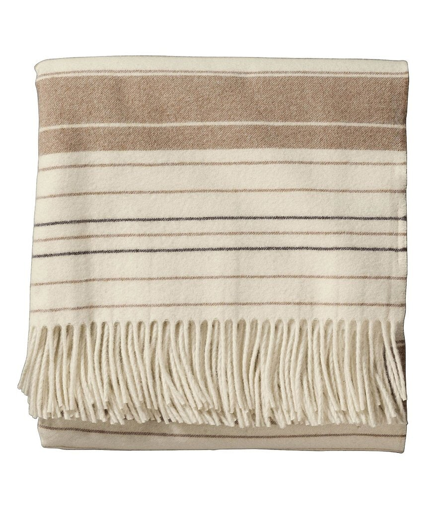 Pendleton 5th Avenue Collection Fringed Striped Throw