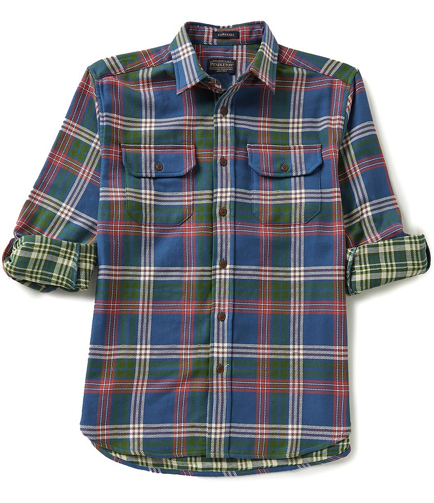 Pendleton Fairbanks Long-Sleeve Double-Face Plaid Woven Shirt