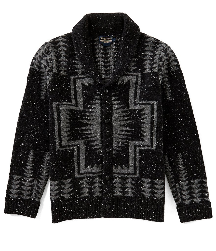 Pendleton Harding Pattern Shawl Collar Long-Sleeve Cardigan