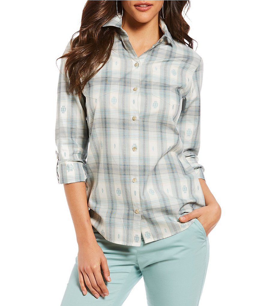 Pendleton Harding Plaid Roll-Sleeve Shirt