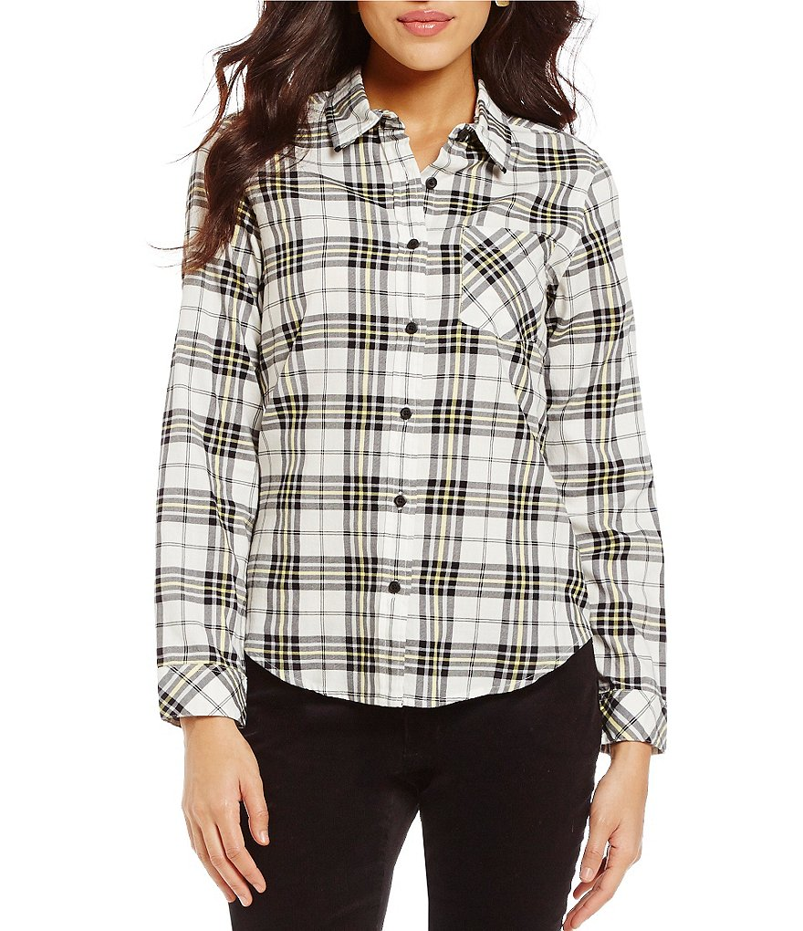 Pendleton Plaid Cotton Twill Long Sleeve Shirt