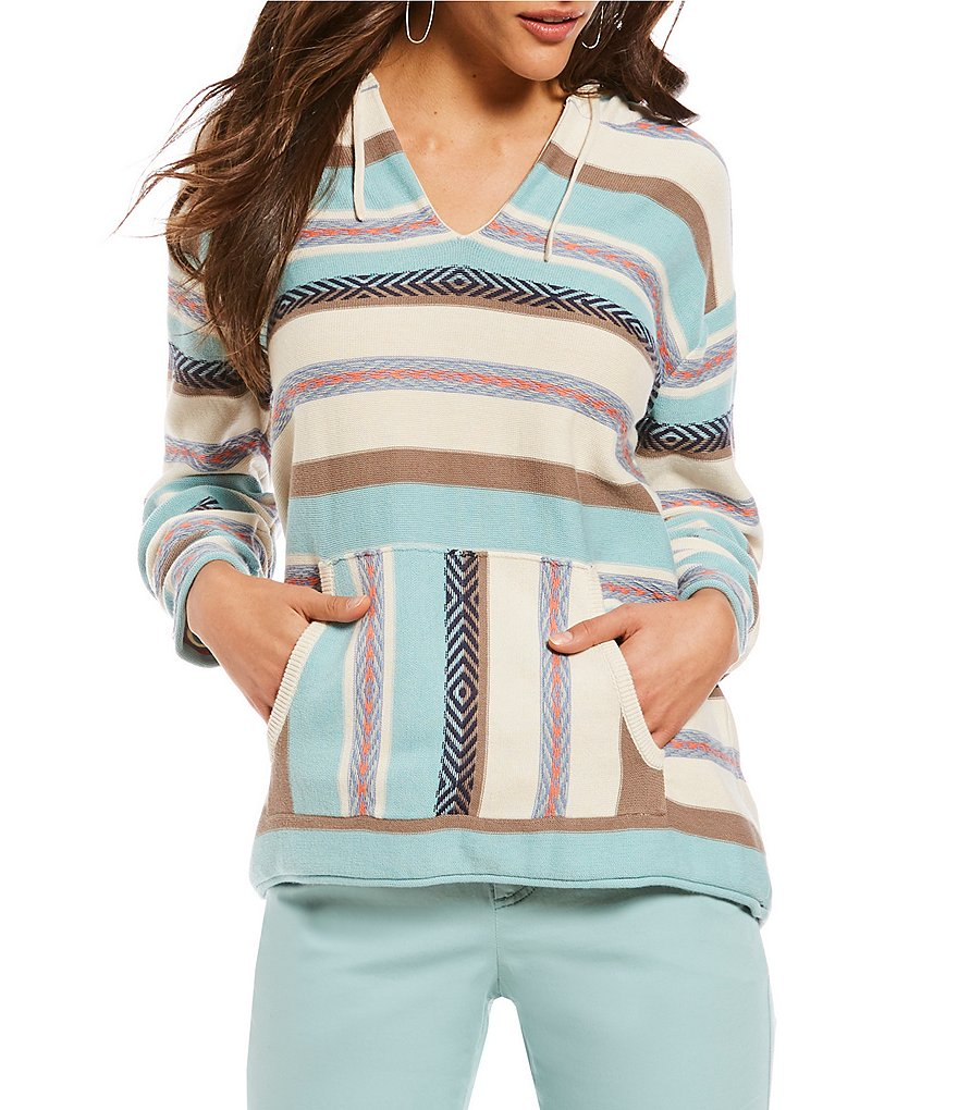 Pendleton Serape Stripe Cotton Knit Hoodie