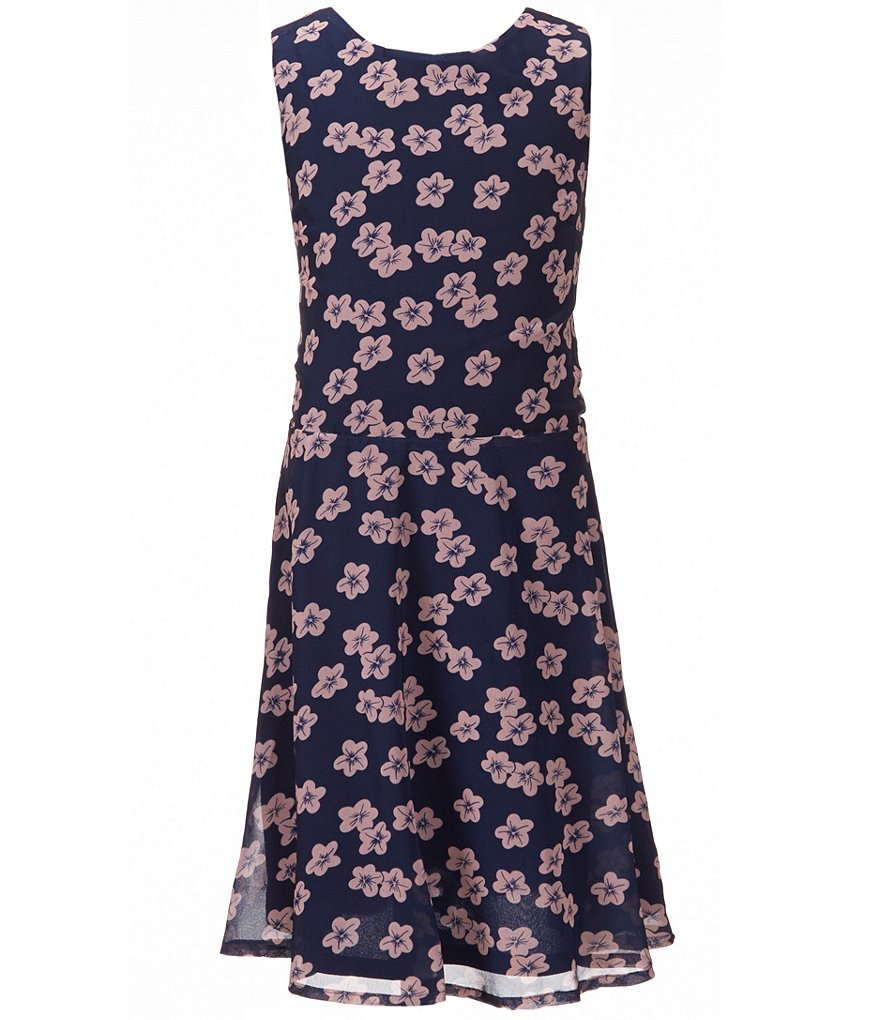 Penelope Tree Big Girls 8-14 Floral Cut-Out Dress