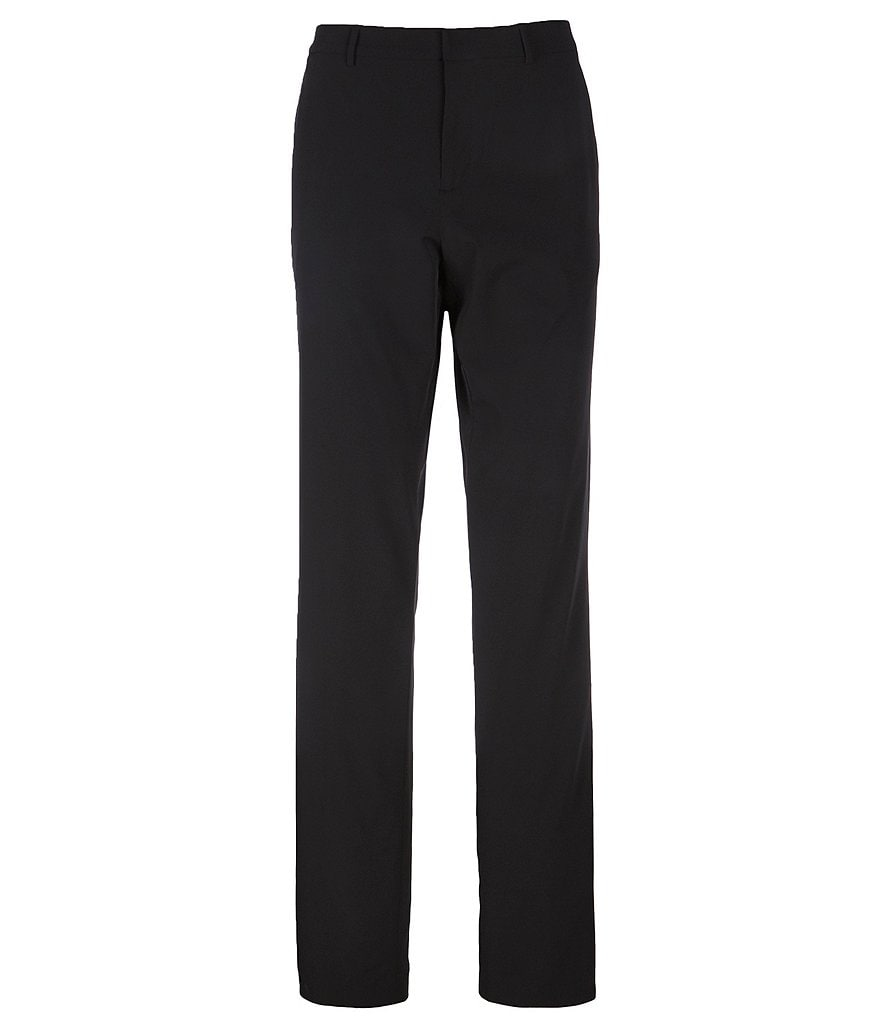 Perry Ellis Big & Tall Flat-Front Solid Stretch Suit Pants
