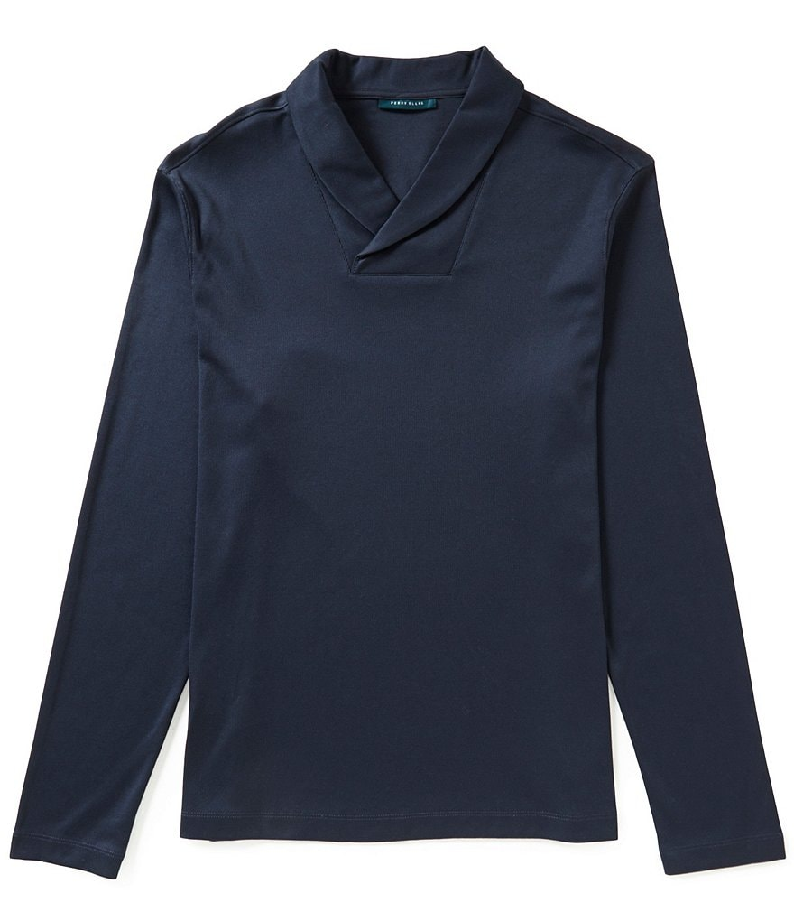 Perry Ellis Shawl Collar Pullover