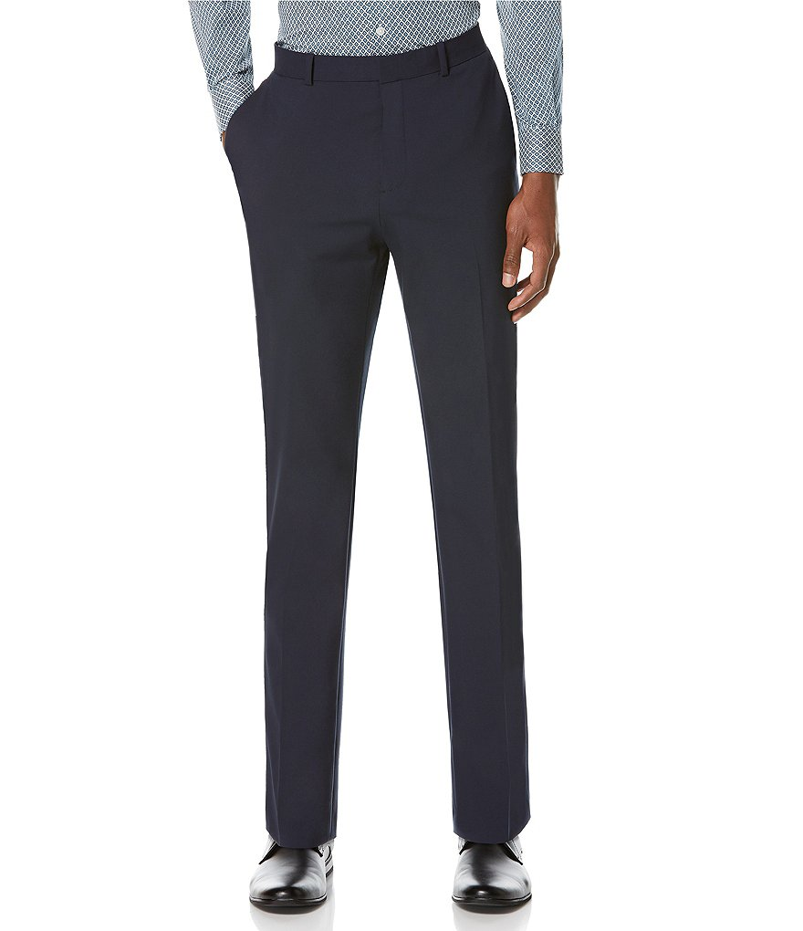 Perry Ellis Slim-Fit Flat-Front Washable Tech Suit Separates Pants