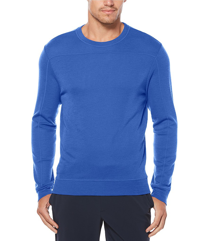 Perry Ellis Solid Merino Wool Long-Sleeve Sweater