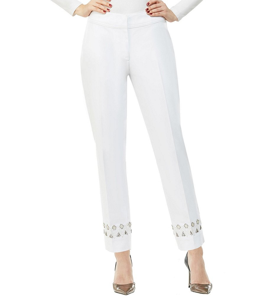 Peter Nygard Embellished Morgan Slim Ankle Pants