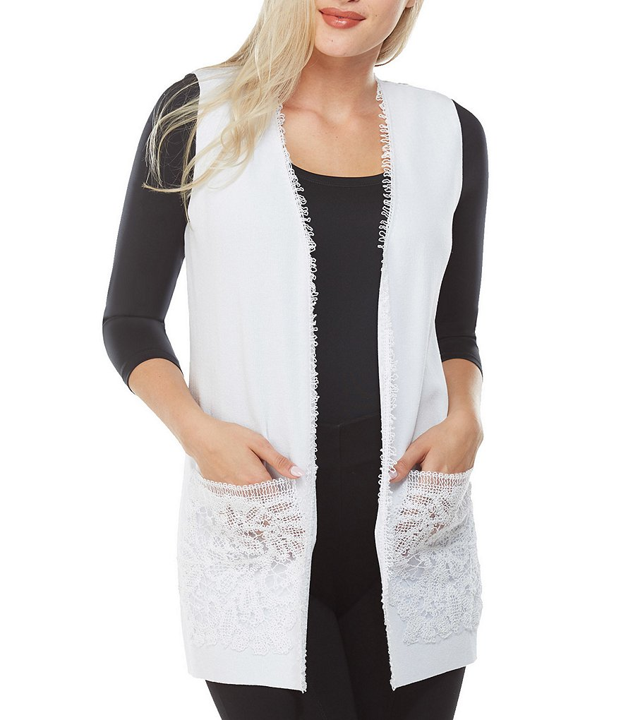 Peter Nygard Lace Detail Vest