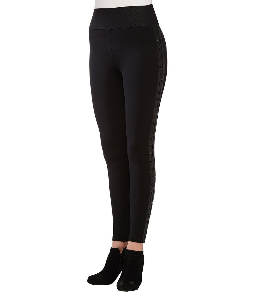 Peter Nygard Petite Side Lace Up Leggings