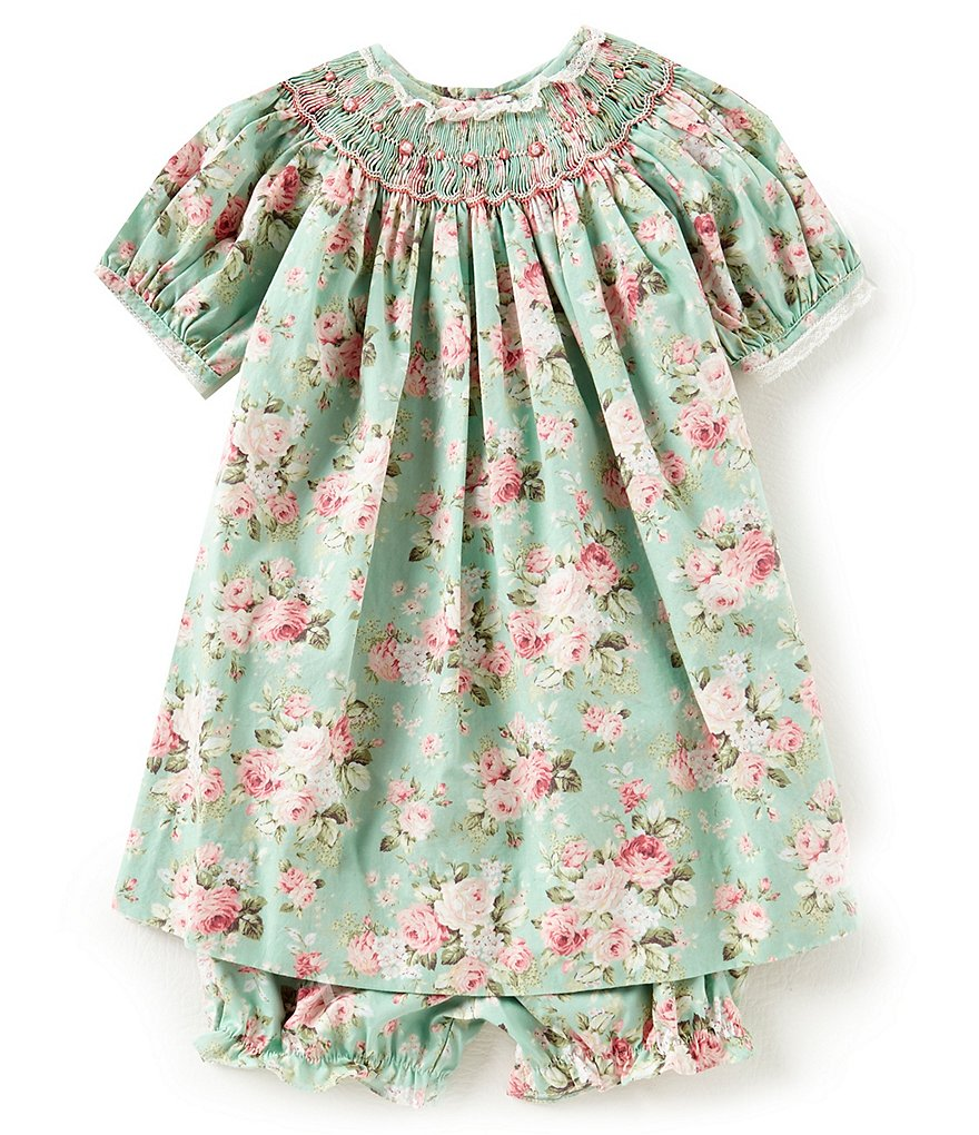 Petit Ami Baby Girls 12-24 Months Floral-Print Dress