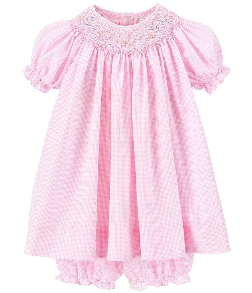Petit Ami Baby Girls 3 9 Months Smocked Gingham Dress