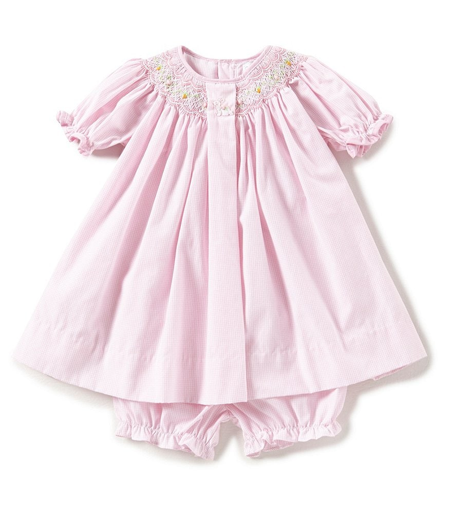Petit Ami Baby Girls Newborn-24 Months Easter Bunny Smocked Dress