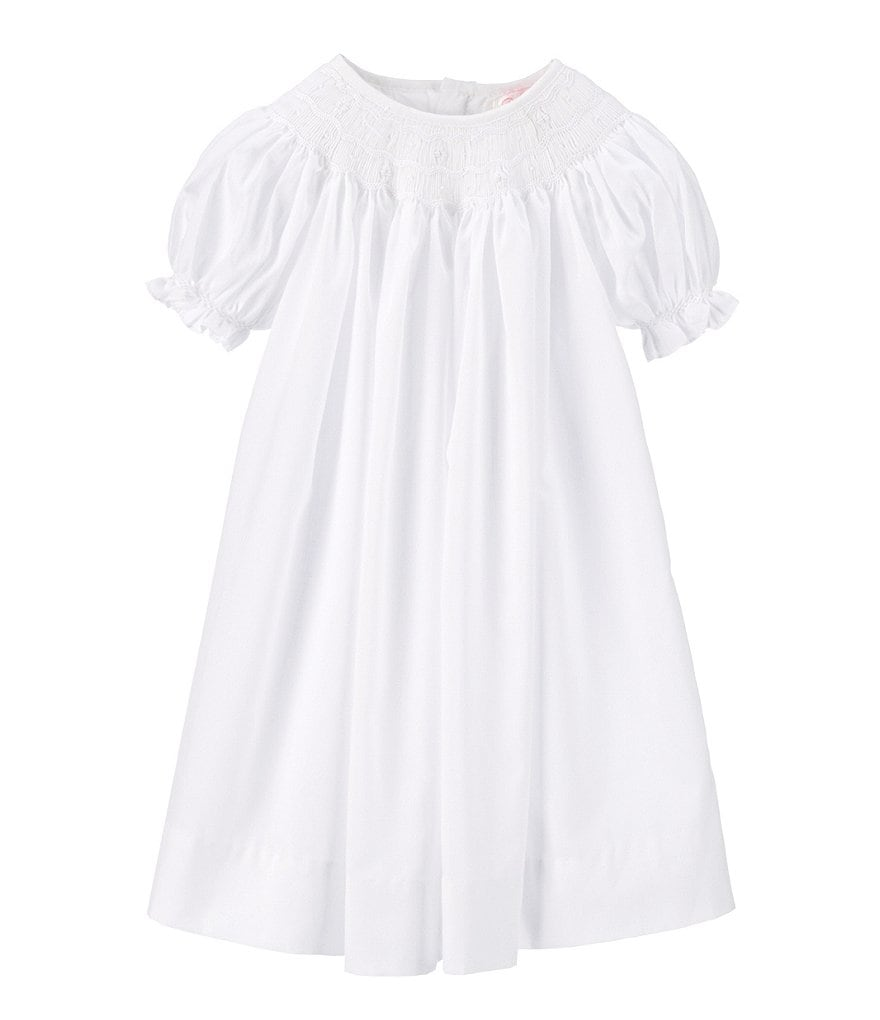 Petit Ami Baby Girls Newborn-9 Months Smocked Christening Gown