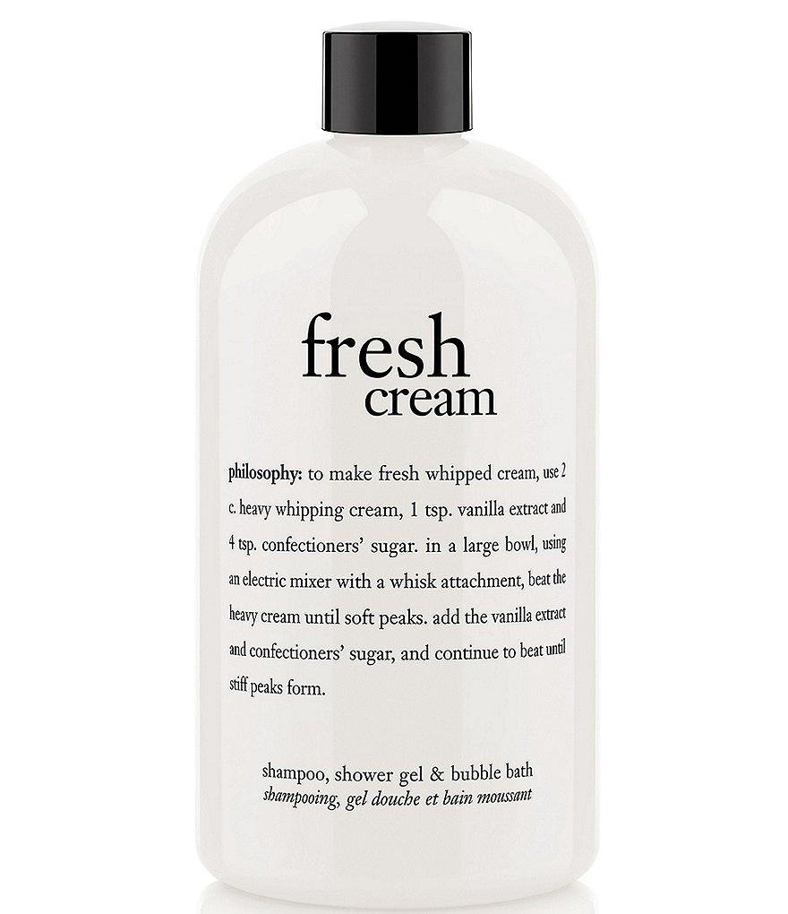 Philosophy Fresh Cream Shampoo Shower Gel Amp Bubble Bath