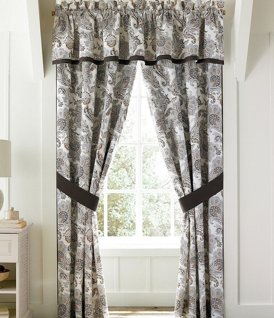 Piper & Wright Pearcely Paisley Slub Cotton Window Treatments