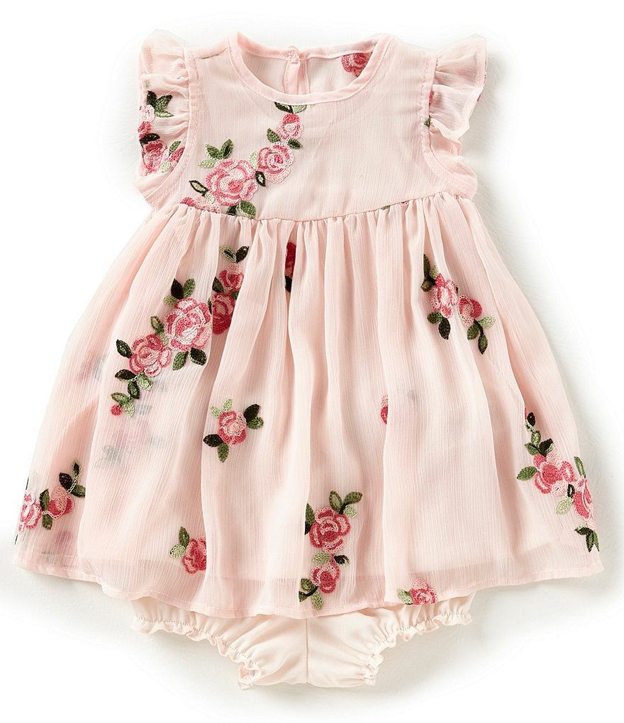 Pippa & Julie Baby Girls 12-24 Months Floral-Embroidered Dress