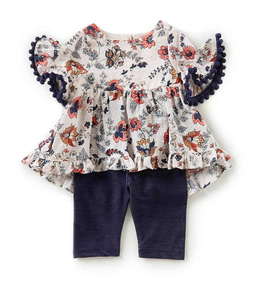 Pippa & Julie Baby Girls 12-24 Months Printed Tunic Top & Solid Leggings Set