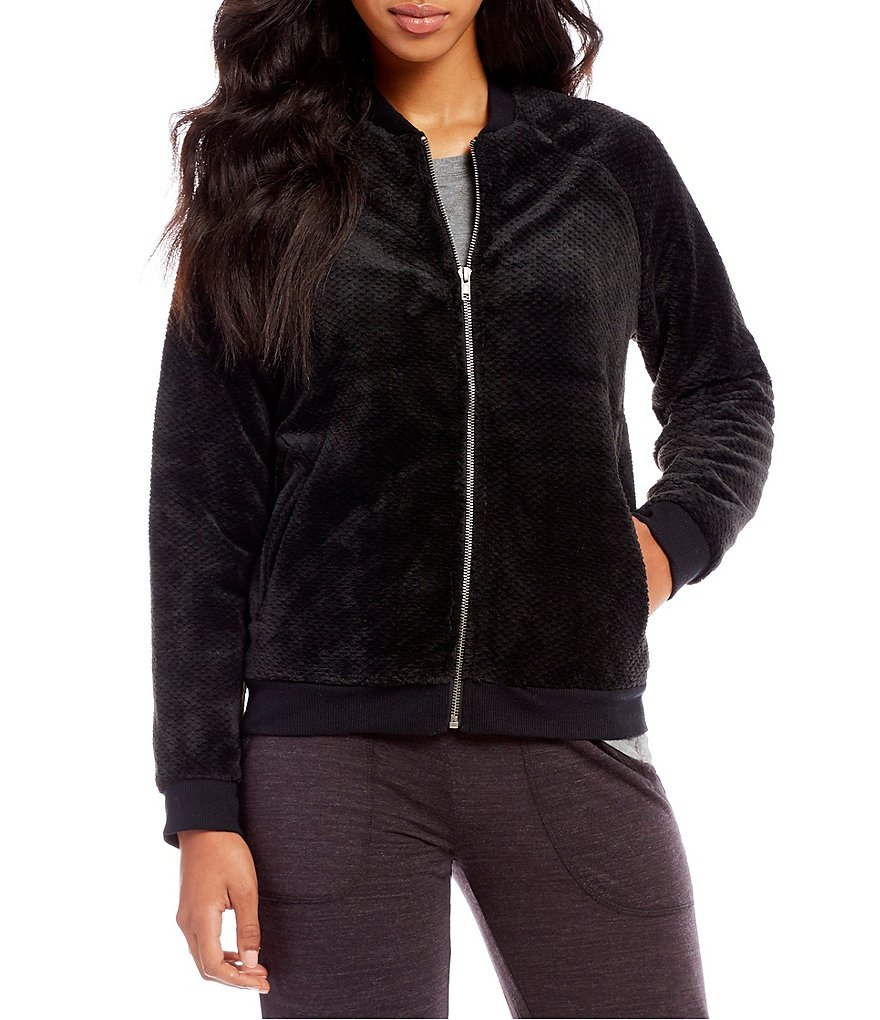 PJ Salvage Cozy Bomber Lounge Jacket