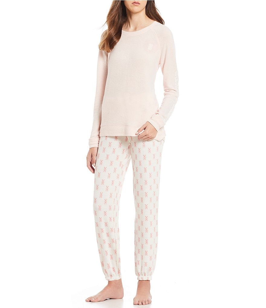 PJ Salvage Sugarfina Peachy Jersey Pajama Set