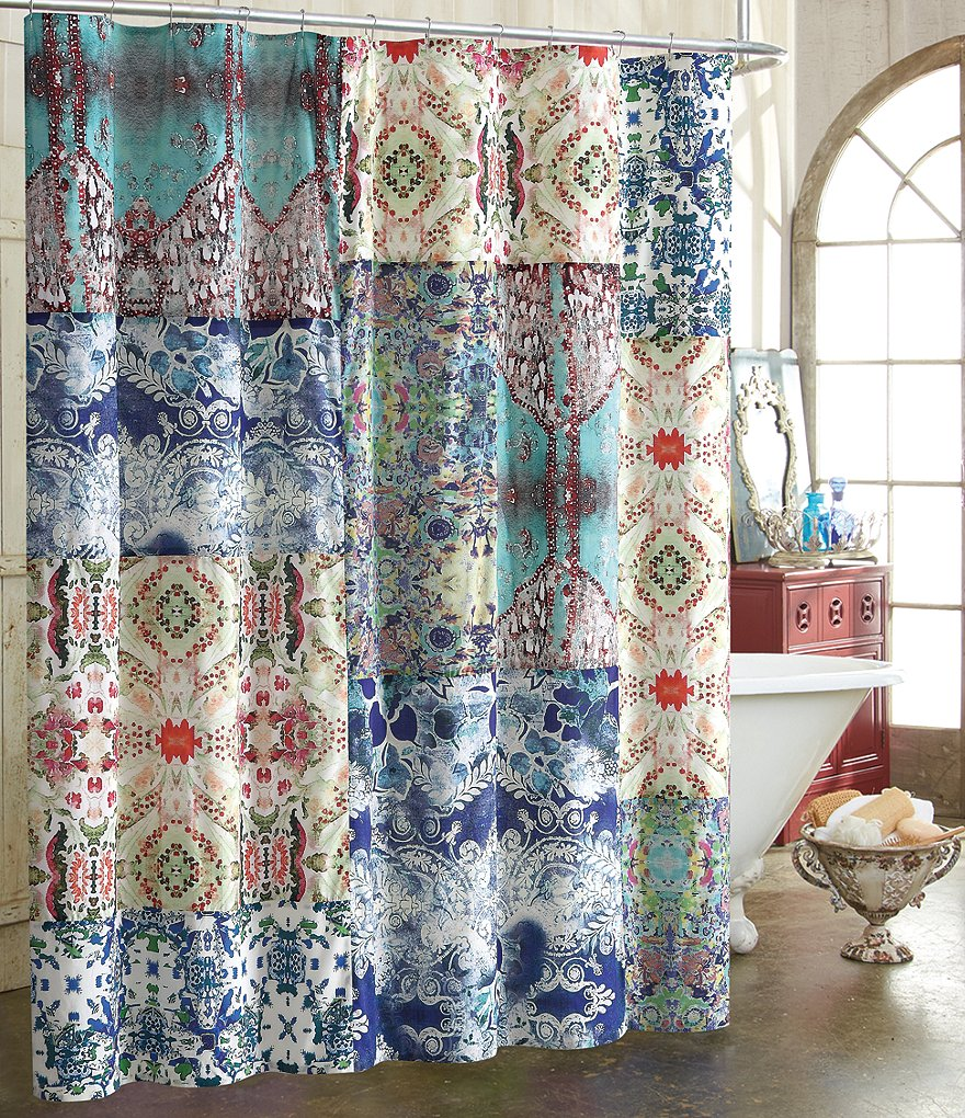 Poetic Wanderlust™ by Tracy Porter Astrid Mixed-Print Cotton Shower Curtain