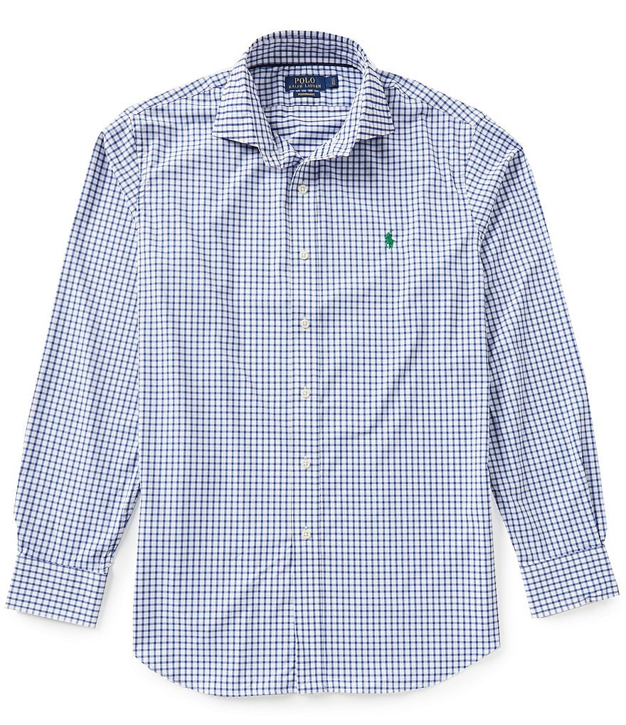 Polo Golf Performance Check Twill Long-Sleeve Woven Shirt