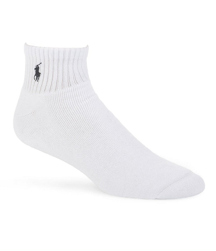 Polo Ralph Lauren Cushioned Quarter-Top Casual Socks 3-Pack