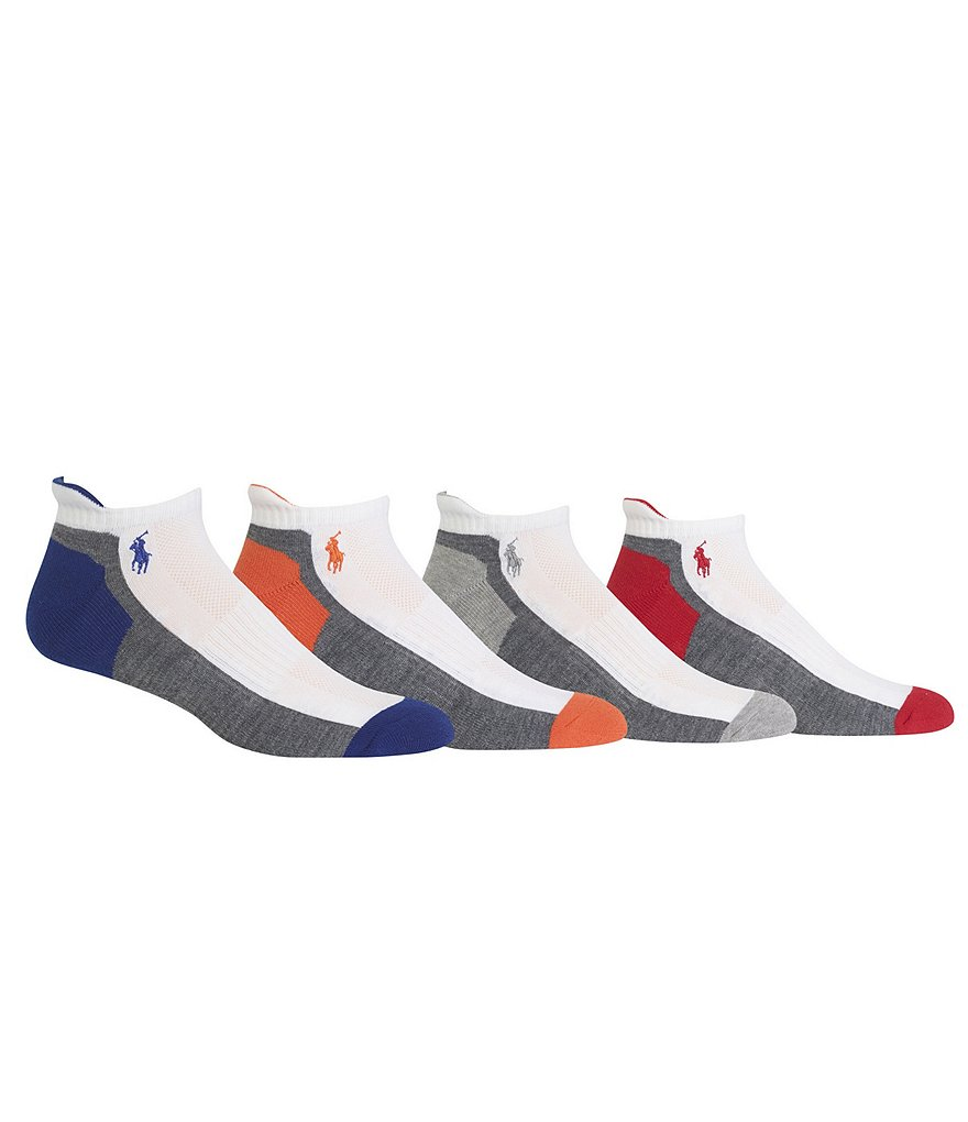 Polo Ralph Lauren Athletic Ankle Socks 4-Pack