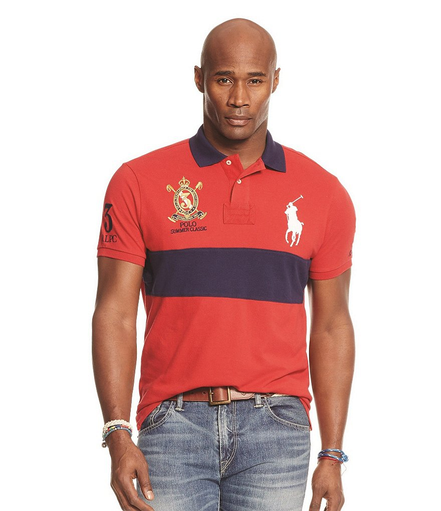 Polo Ralph Lauren Big & Tall Classic-Fit Color-Blocked Polo Shirt