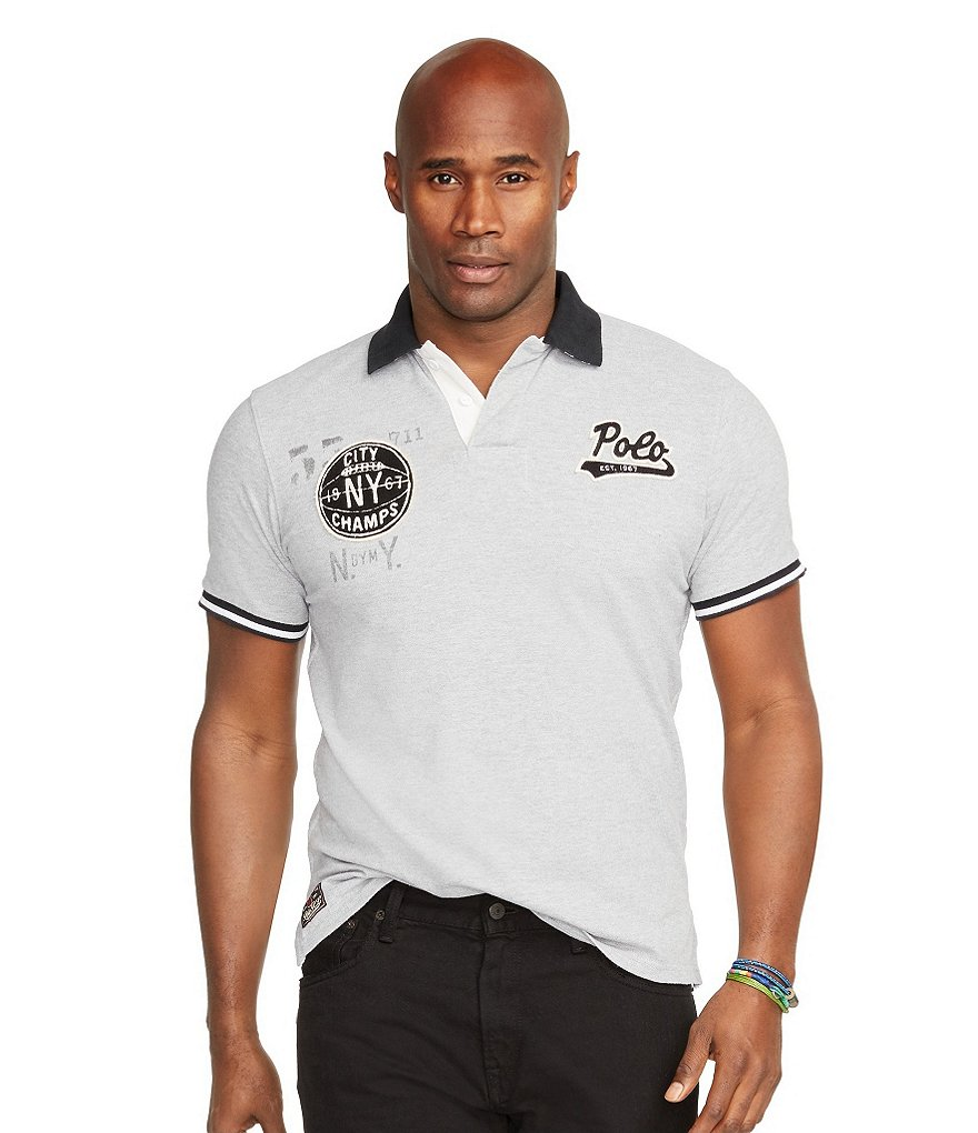 Polo Ralph Lauren Big & Tall Custom-Fit City Champs Mesh Polo Shirt